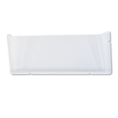 Unbreakable DocuPocket Wall File, Legal, 17 1/2 x 3 x 6 1/2, Clear. Picture 1