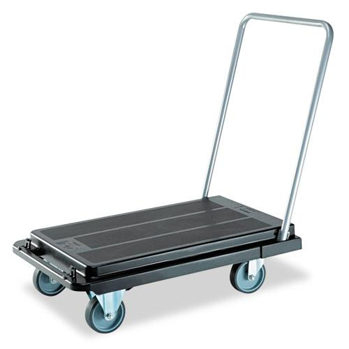 Heavy-Duty Platform Cart, 500 lb Capacity, 21 x 32.5 x 37.5, Black. Picture 1