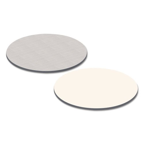 Reversible Laminate Table Top, Round, 35 3/8w x 35 3/8d, White/Gray. Picture 2