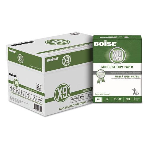 X-9 Multi-Use Copy Paper, 92 Bright, 24lb, 8.5 x 11, White, 500 Sheets/Ream, 10 Reams/Carton. Picture 1