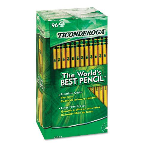 Pencils, HB (#2), Black Lead, Yellow Barrel, 96/Pack. Picture 2