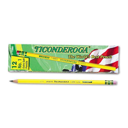 Pencils, B (#1), Black Lead, Yellow Barrel, Dozen. Picture 1