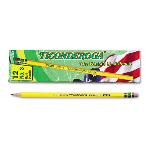 Pencils, HB (#3), Black Lead, Yellow Barrel, Dozen. Picture 2