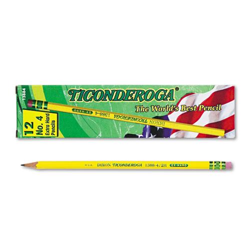 Pencils, 2H (#4), Black Lead, Yellow Barrel, Dozen. Picture 1