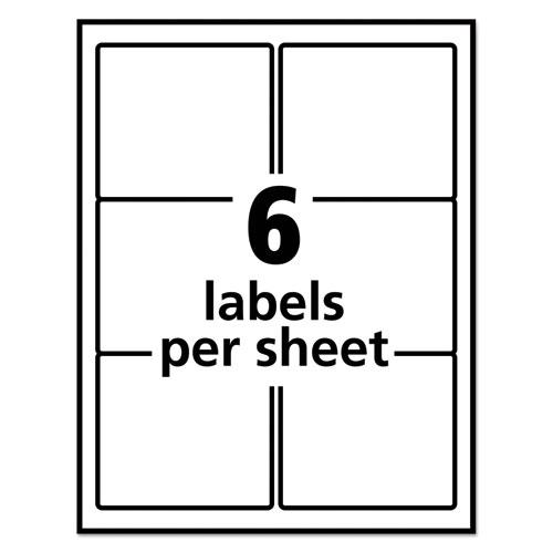 Repositionable Shipping Labels w/SureFeed, Laser, 3 1/3 x 4, White, 600/Box. Picture 3