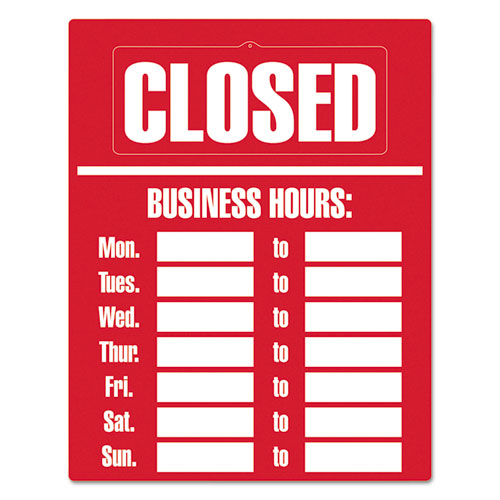 Business Hours Sign Kit, 15 x 19, Red. Picture 2
