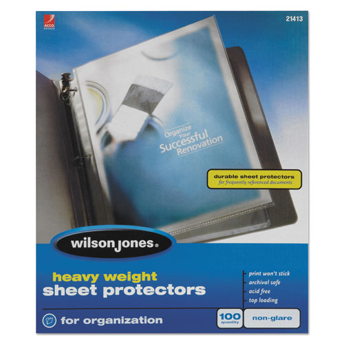 Heavyweight Top-Loading Sheet Protectors, Nonglare Finish, Letter, 100/Box. Picture 1