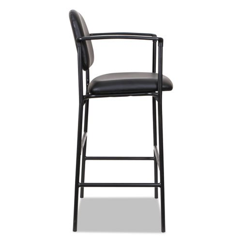 Alera Sorrento Series Stool, Supports up to 300 lbs, Black Seat/Black Back, Black Base, 2/Carton. Picture 4