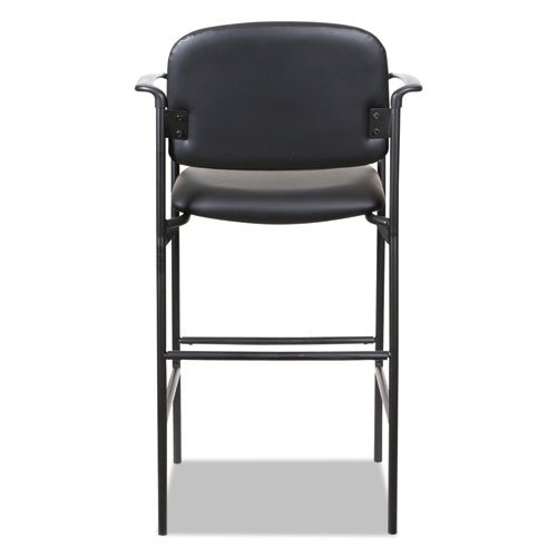 Alera Sorrento Series Stool, Supports up to 300 lbs, Black Seat/Black Back, Black Base, 2/Carton. Picture 5