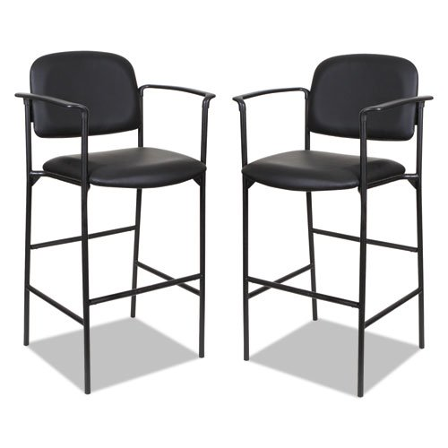 Alera Sorrento Series Stool, Supports up to 300 lbs, Black Seat/Black Back, Black Base, 2/Carton. The main picture.