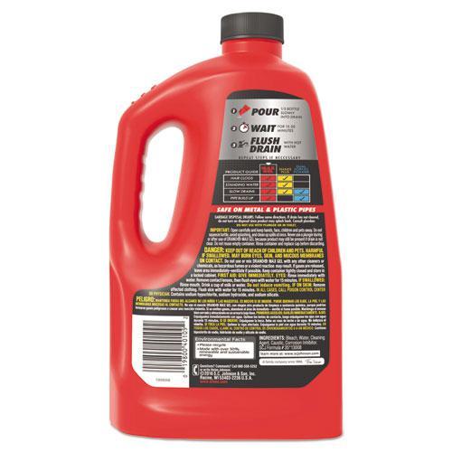 Max Gel Clog Remover, 2.5qt Bottle, 6/Carton