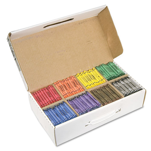 Crayons Made with Soy, 100 Each of 8 Colors, 800/Carton. Picture 1