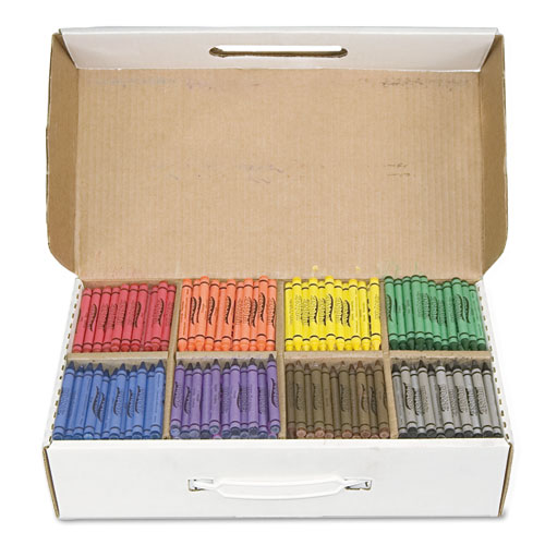 Crayons Made with Soy, 100 Each of 8 Colors, 800/Carton. Picture 2