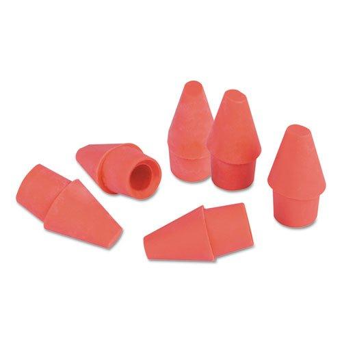 Pencil Cap Erasers, Pink, Elastomer, 150/Pack. Picture 1