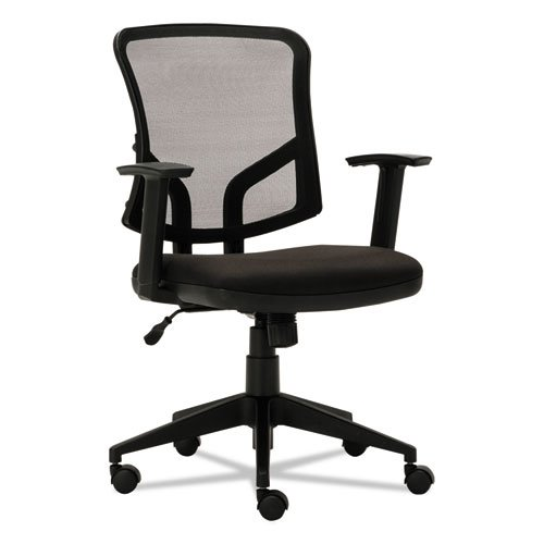 Everyday Task Office Chair, Supports up to 275 lbs., Black Seat/Black Back, Black Base. Picture 1