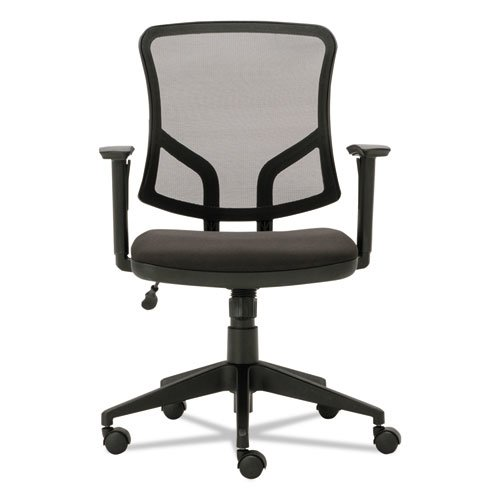 Everyday Task Office Chair, Supports up to 275 lbs., Black Seat/Black Back, Black Base. Picture 2