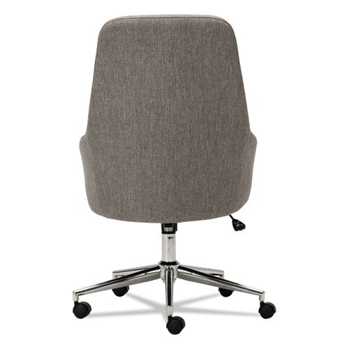 Alera Captain Series High Back Chair Gray Tweed