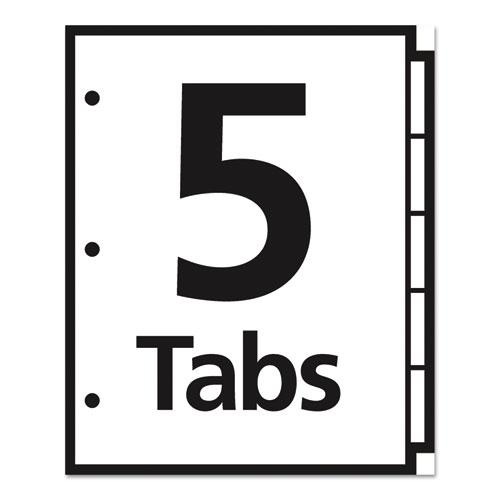 Table 'n Tabs Dividers, 5-Tab, 1 to 5, 11 x 8.5, White, 1 Set. Picture 3