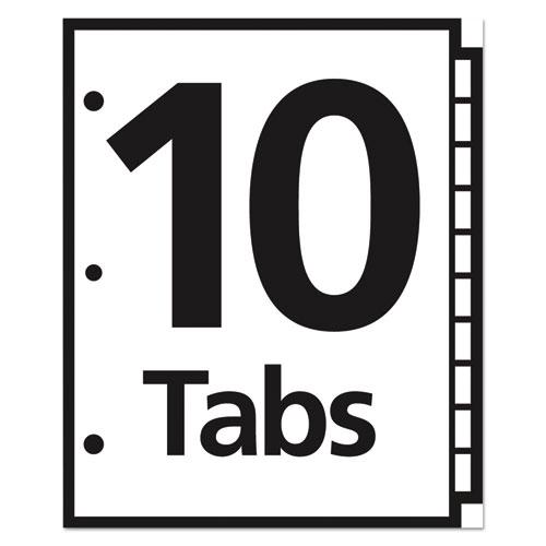 Table 'n Tabs Dividers, 10-Tab, 1 to 10, 11 x 8.5, White, 1 Set. Picture 3