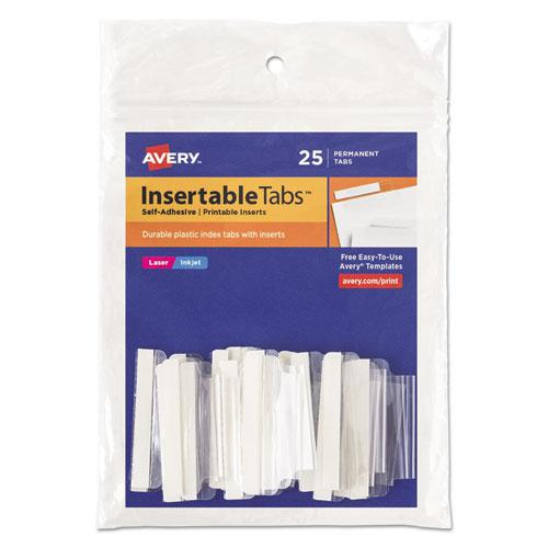 insertable index tabs with printable inserts 1 1 2 clear tab