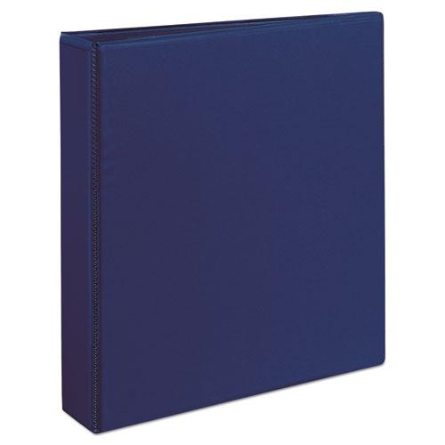 """Durable View Binder with DuraHinge and Slant Rings, 3 Rings, 1.5"""" Capacity, 11 x 8.5, Blue. Picture 4"""