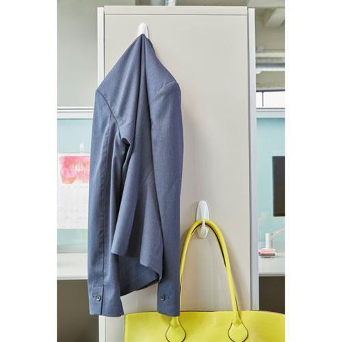 General Purpose Designer Hooks, Small/Medium, 3 lb Cap, White, 4 Hooks and 4 Strips/Pack