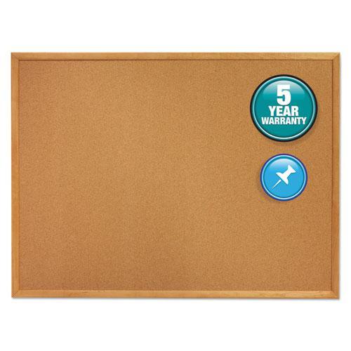 Classic Series Cork Bulletin Board, 48 x 36, Oak Finish Frame. Picture 1