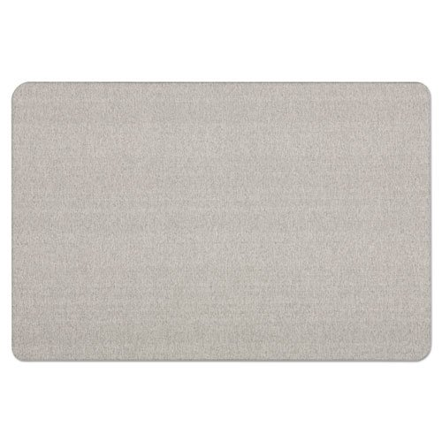 Oval Office Fabric Bulletin Board, 48 x 36, Gray. Picture 6