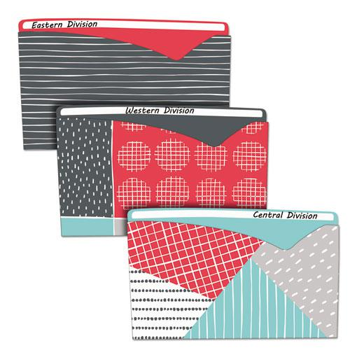 Write-On Fashion Poly File Jackets, Straight Tab, Letter Size, Assorted Colors, 6/Pack. Picture 1