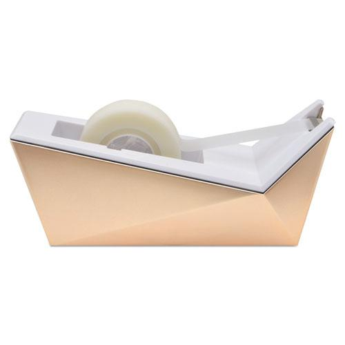 """Facet Design One-Handed Dispenser, with 3/4 x 350 Tape Roll, 1"""" Core, Copper. Picture 1"""