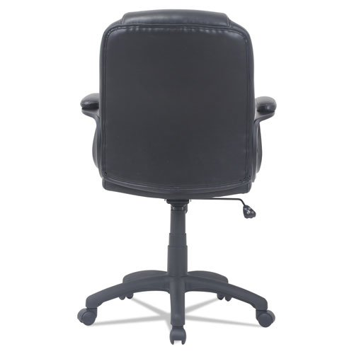 Alera CC Series Executive Mid-Back Bonded Leather Chair, Supports up to 275 lbs, Black Seat/Black Back, Black Base. Picture 4