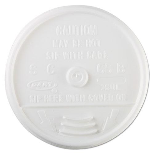 Plastic Lids, for 16oz Hot/Cold Foam Cups, Sip-Thru Lid, White, 1000/Carton. Picture 2