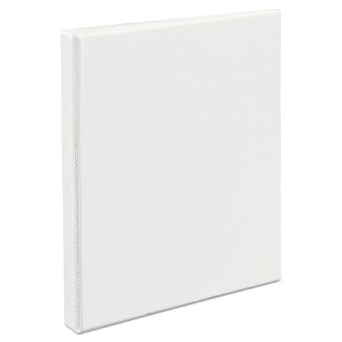 "Heavy-Duty Non Stick View Binder with DuraHinge and Slant Rings, 3 Rings, 0.5"" Capacity, 11 x 8.5, White, (5234). Picture 2"
