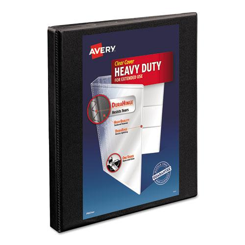 """Heavy-Duty Non Stick View Binder with DuraHinge and Slant Rings, 3 Rings, 0.5"""" Capacity, 11 x 8.5, Black, (5233). Picture 1"""