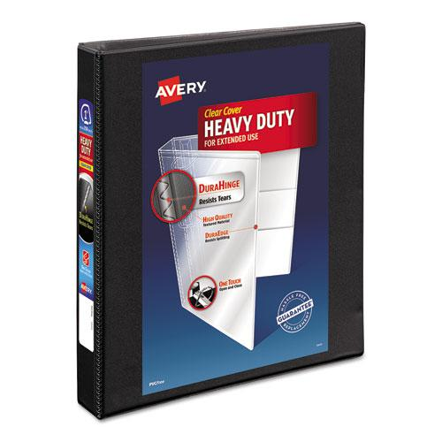 """Heavy-Duty Non Stick View Binder with DuraHinge and Slant Rings, 3 Rings, 1"""" Capacity, 11 x 8.5, Black, (5300). Picture 1"""