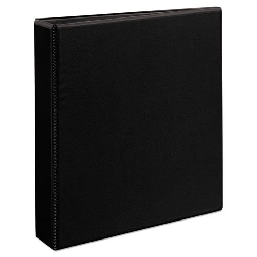 "Heavy-Duty Non Stick View Binder with DuraHinge and Slant Rings, 3 Rings, 1.5"" Capacity, 11 x 8.5, Black, (5400). Picture 2"