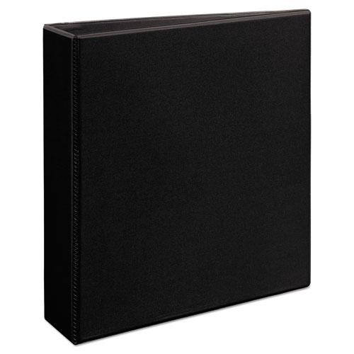 """Heavy-Duty Non Stick View Binder with DuraHinge and Slant Rings, 3 Rings, 2"""" Capacity, 11 x 8.5, Black, (5500). Picture 2"""