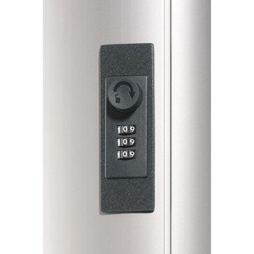 Key Box Plus, 54-Key, Brushed Aluminum, Silver, 11 3/4 x 4 5/8 x 15 3/4. Picture 7