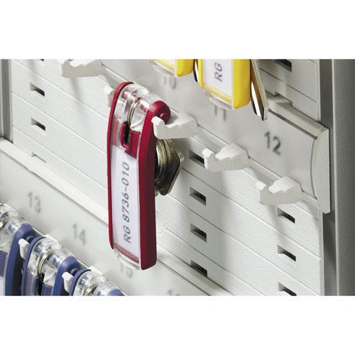 Locking Key Cabinet, 36-Key, Brushed Aluminum, Silver, 11 3/4 x 4 5/8 x 11. Picture 7