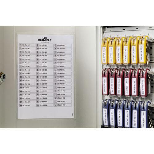 Locking Key Cabinet, 36-Key, Brushed Aluminum, Silver, 11 3/4 x 4 5/8 x 11. Picture 4