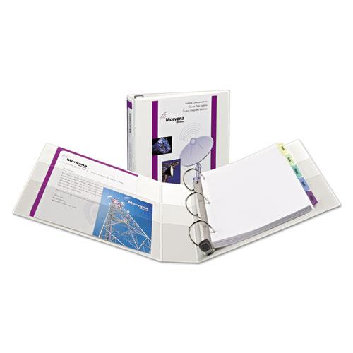 """Heavy-Duty View Binder with DuraHinge, One Touch EZD Rings/Extra-Wide Cover, 3 Ring, 1.5"""" Capacity, 11 x 8.5, White, (1319). Picture 1"""