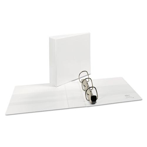 """Heavy-Duty View Binder with DuraHinge and Locking One Touch EZD Rings, 3 Rings, 3"""" Capacity, 11 x 8.5, White. Picture 3"""