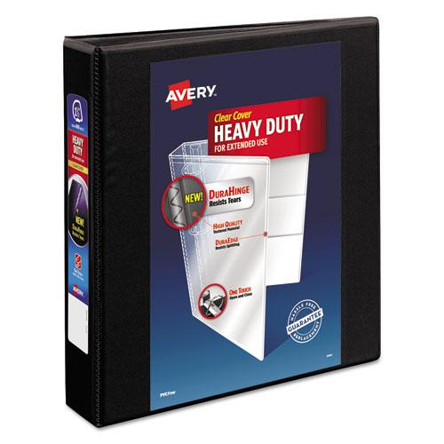 """Heavy-Duty View Binder with DuraHinge and One Touch EZD Rings, 3 Rings, 1.5"""" Capacity, 11 x 8.5, Black. Picture 1"""