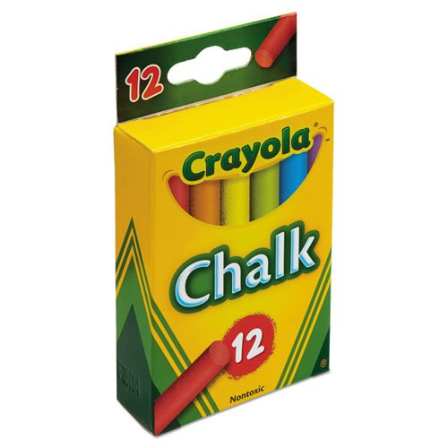 Chalk, 6 Assorted Colors, 12 Sticks/Box. Picture 2