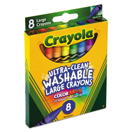 Ultra-Clean Washable Crayons, Large, 8 Colors/Box. Picture 2