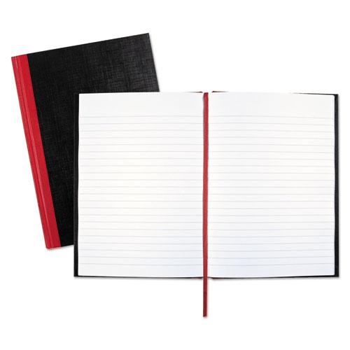 Casebound Notebooks, Wide/Legal Rule, Black Cover, 8.25 x 5.68, 96 Sheets. Picture 1