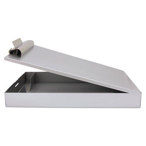 "Redi-Rite Aluminum Storage Clipboard, 1"" Clip Cap, Holds 8.5 x 12 Sheets, Silver. Picture 3"