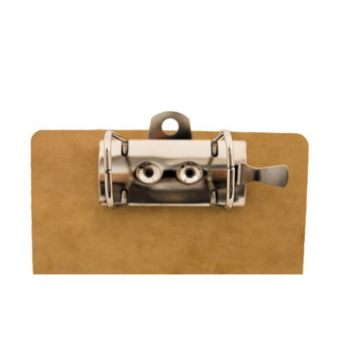 """Recycled Hardboard Archboard Clipboard, 2"""" Clip Cap, 8 1/2 x 14 Sheets, Brown. Picture 2"""