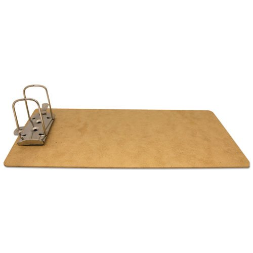 """Recycled Hardboard Archboard Clipboard, 2"""" Clip Cap, 8 1/2 x 14 Sheets, Brown. Picture 3"""
