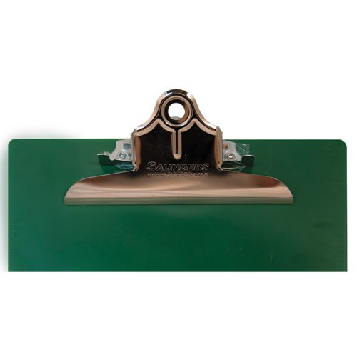 """Recycled Plastic Clipboard with Ruler Edge, 1"""" Clip Cap, 8 1/2 x 12 Sheet, Green. Picture 2"""